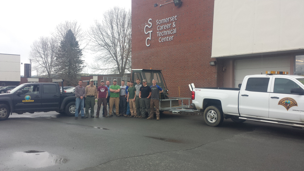 Students from the Somerset Career and Technical Center at Skowhegan Area High School donated their time and expertise to fix up a 20-year-old all terrain vehicle donated by the Somerset County Jail to Lake George Regional Park.