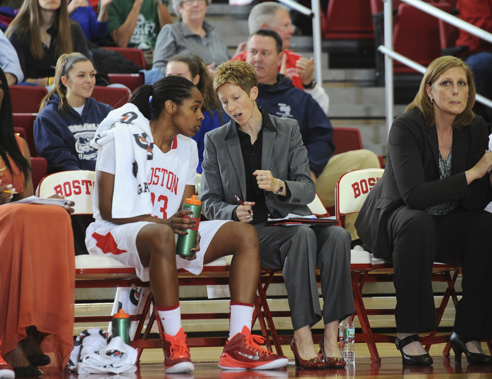 Contributed photo   Former Lawrence and University of Maine basketball standout Cindy Blodgett was promoted to associate head coach at Boston University.