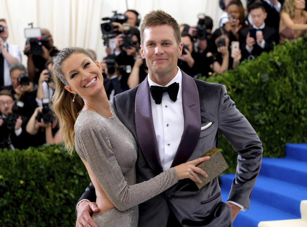 Gisele Bundchen and Tom Brady attend the Metropolitan Museum of Art's Costume Institute benefit gala on May 1.
