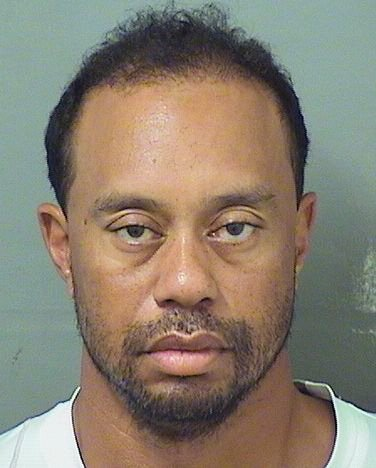 Tiger Woods' booking photo after his arrest by Jupiter, Fla., police.