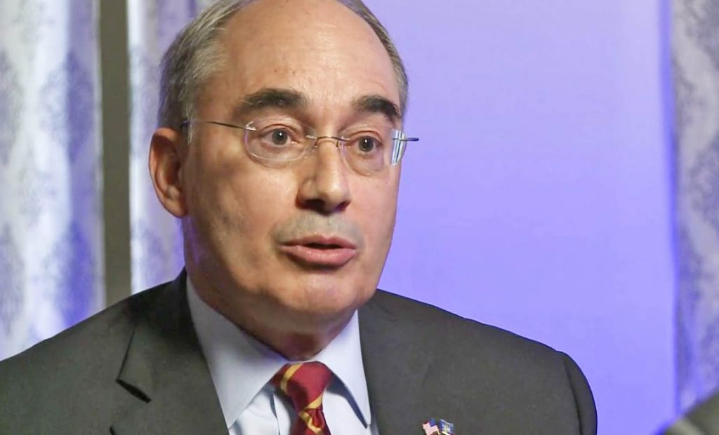 U.S. Rep. Bruce Poliquin, R-2nd District, shown in an interview with WCSH-TV on Friday, defended the Republican plan to replace the Affordable Care Act.