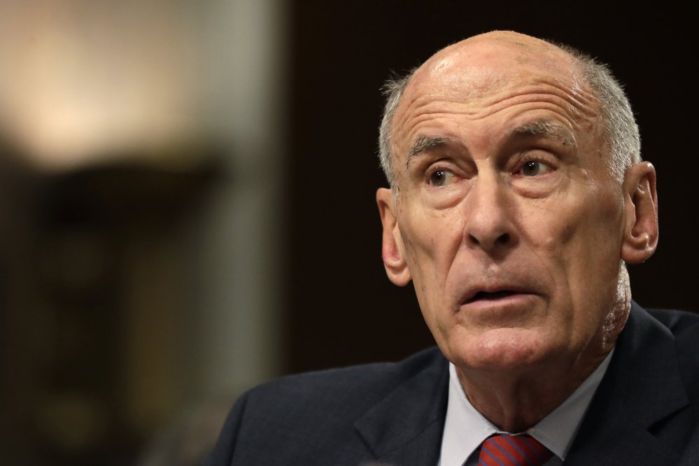 Director of National Intelligence Dan Coats testifies May 23 before the Senate Armed Services Committee in a hearing on worldwide threats. Associates say Coats told them that President Trump asked if he could intervene in the FBI investigation of former national security adviser Michael Flynn.