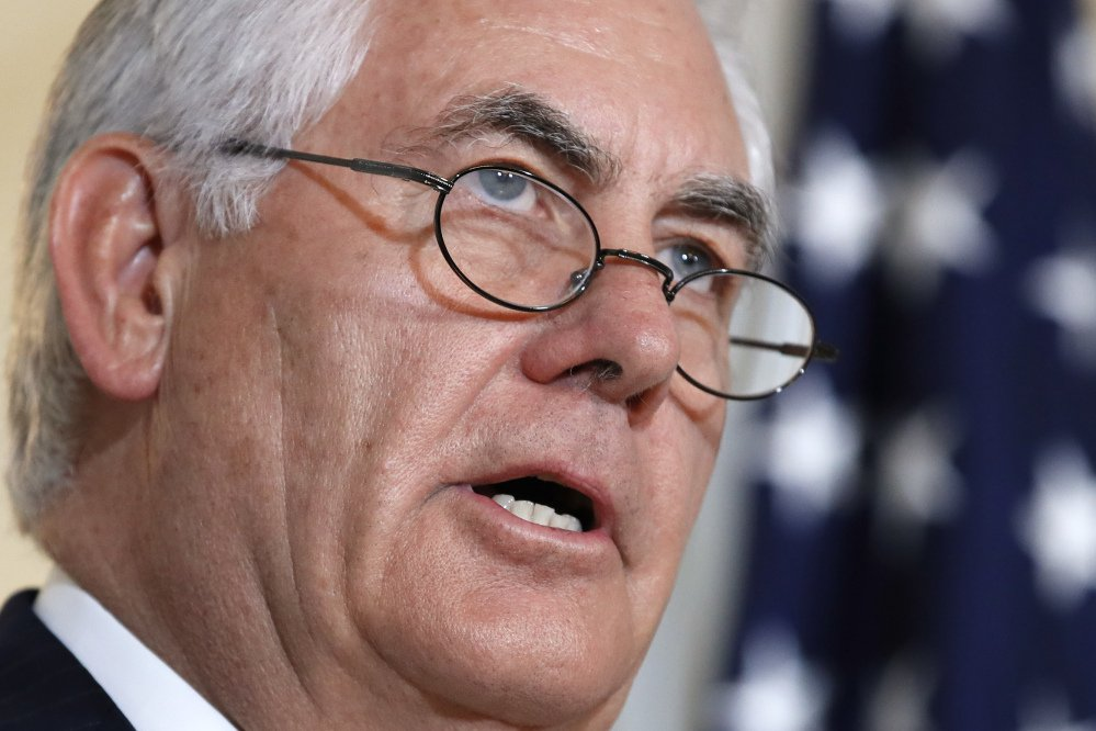 Secretary of State Rex Tillerson, speaking Friday at the State Department in Washington, called on Saudi Arabia, Egypt, the United Arab Emirates and Bahrain to immediately ease their blockade on Qatar.