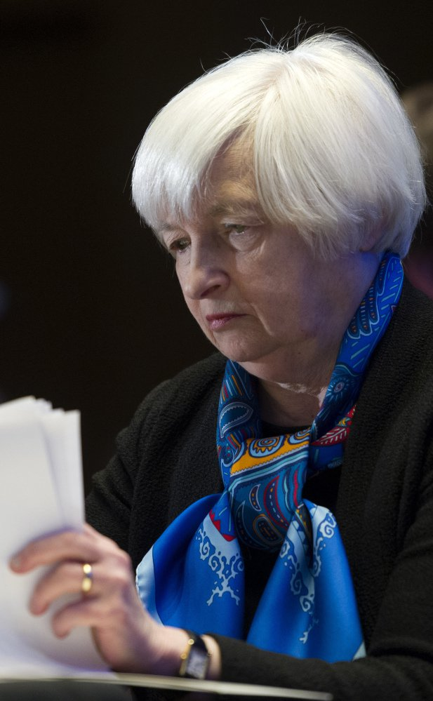 Federal Reserve Chair Janet Yellen will hold a news conference after the Fed meets Wednesday.