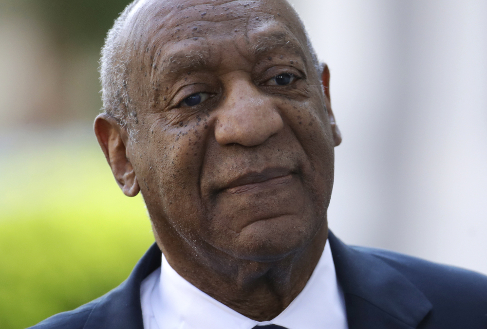 Bill Cosby arrives for his sexual assault trial Tuesday at the Montgomery County Courthouse in Norristown, Pa.