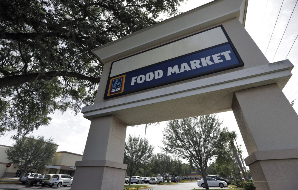 Discount grocer Aldi has 1,650 U.S. locations, including this one in Brandon, Fla., and plans to expand to 2,500 stores in the next five years. Another discounter, Germany-based Lidl, is opening its first 10 U.S. stores Thursday.