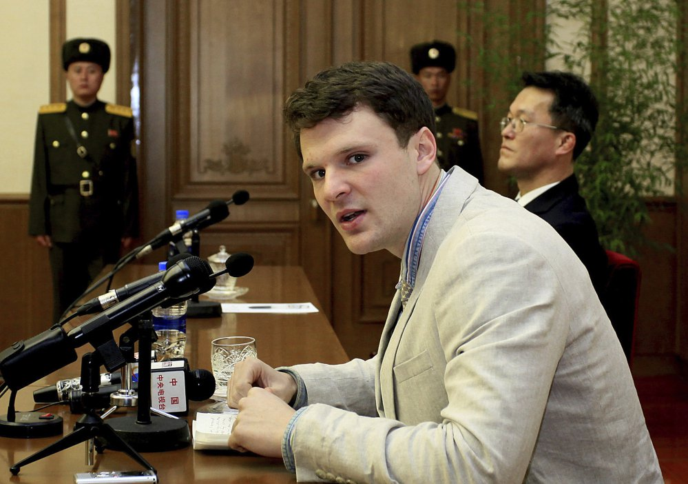 American student Otto Warmbier ws freed Tuesday. (AP Photo/Kim Kwang Hyon, File)