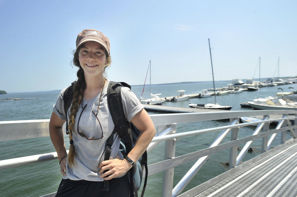 Christina Hassett, the Maine Island Trail Association's island keeper for Little Chebeague.