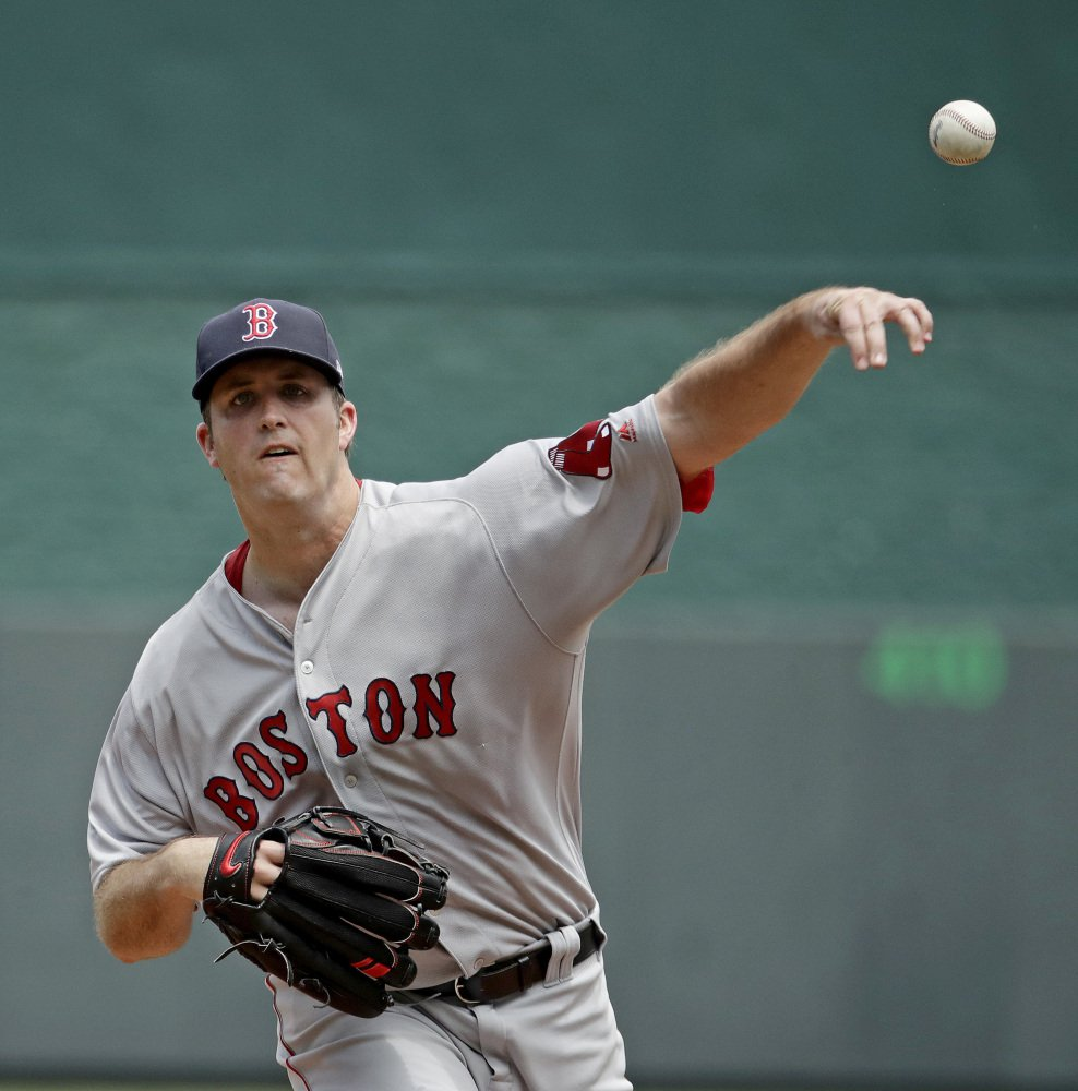 Red Sox starter Drew Pomeranz pitched into the seventh inning, allowing two runs and six hits.
