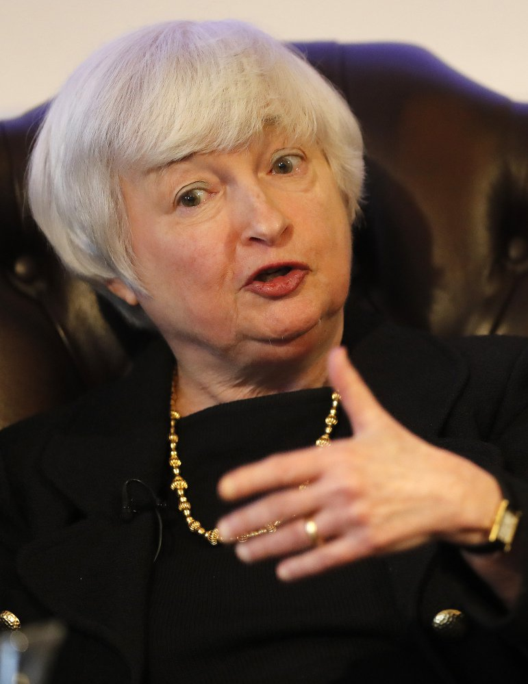 "Fed Chairman Janet Yellen told a group in London that ""we have a strong banking sector that's well-capitalized and has a lot of liquidity."""