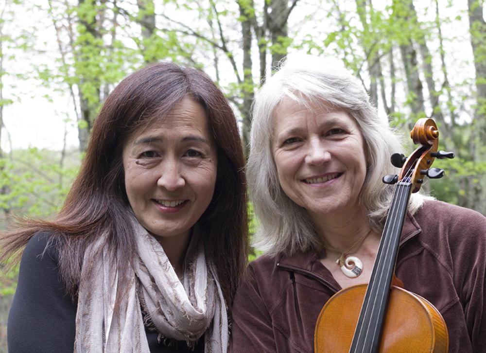 Yuri Funahashi, left, and Laurie Kennedy