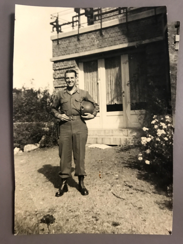 Frank Norvish served in the military during World War II as a special agent in the Counter Intelligence Corps. He landed at Utah Beach in Normandy on D-Day, June 6, 1944.