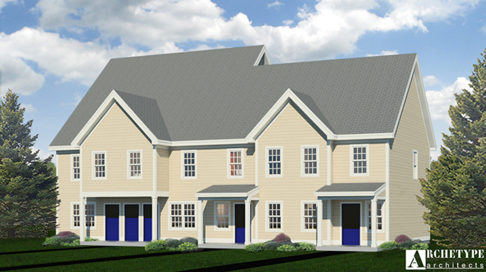 A rendering of the proposed housing to be built on Maple Street in Augusta.