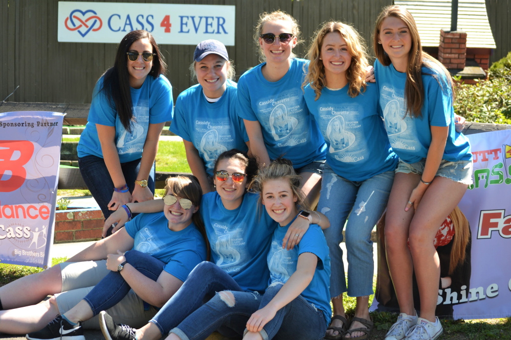 "Cassidy Charette's former Central Maine United Premier Soccer teammates honored their friend by participating in ""Putt 4 Cass"" May 20 at Gifford's in Waterville. In front, from left, are Gabi Martin, Paige Smith and Emily Grandahl. In back, from left are Fotini Shanos, Sabrina Carey, Lindsey Perkins, Sammy Grandahl and Janna Elwell."