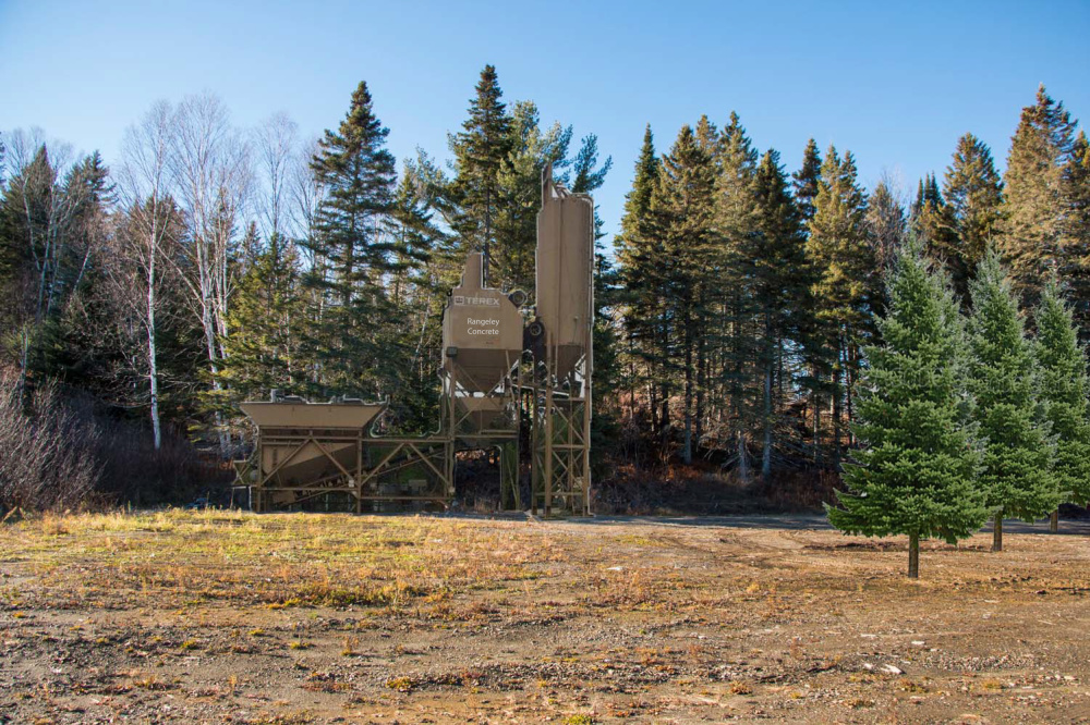 A rendering provided by M&H Construction shows a proposed concrete plant in the Cemetery Hill commercial subdivision in Rangeley.