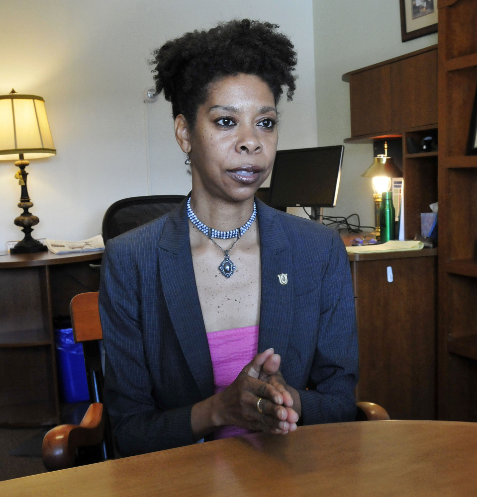 Rana Johnson, the new chief deputy officer at Unity College, shown June 8.