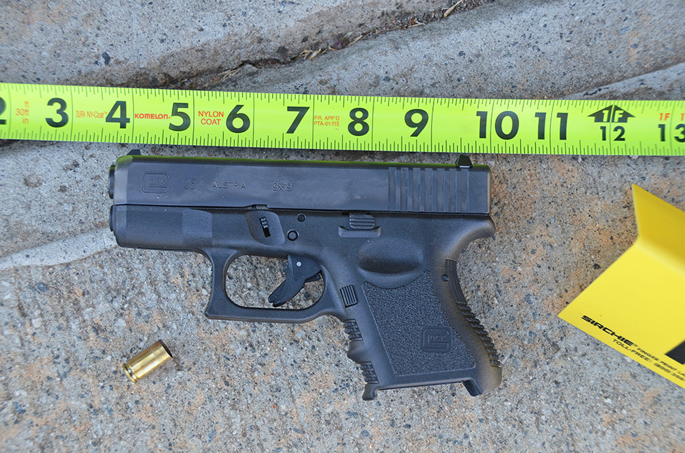 FILE - This Sunday, March 29, 2015, file photo provided by the Jefferson Police Department shows a gun involved in the accidental shooting of a 3-year-old in Jefferson, Ga. Shootings kill or injure at least 19 U.S. children each day, with boys, teenagers and blacks most at risk, according to a government study that paints a bleak portrait of persistent violence. The analysis of 2002-14 U.S. data that involves children and teens through age 17 was published Monday, June 19, 2017, in the journal Pediatrics. (Jefferson Police Department via AP, File)