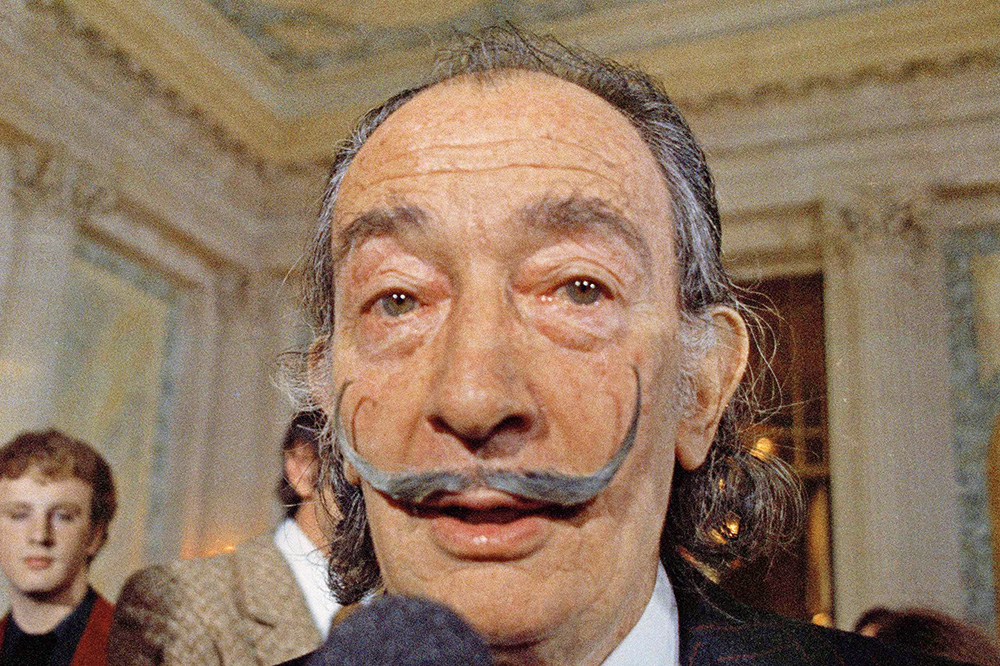 Spanish surrealist painter Salvador Dali, presents what is believed to be the first 3D hologram, in Paris in May 1973.