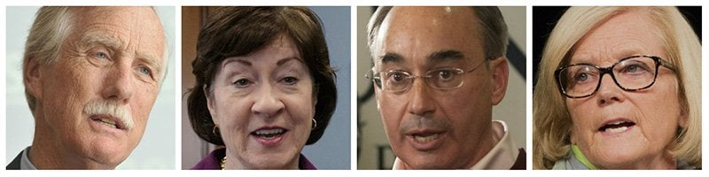 Maine Sens. Angus King, Susan Collins and Reps. Bruce Poliquin, Chellie Pingree