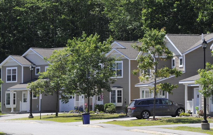 Woodland Village on Lupine Circle at Brunswick Landing, where rents can run $1,850 per month, including utilities, was part of the purchase.