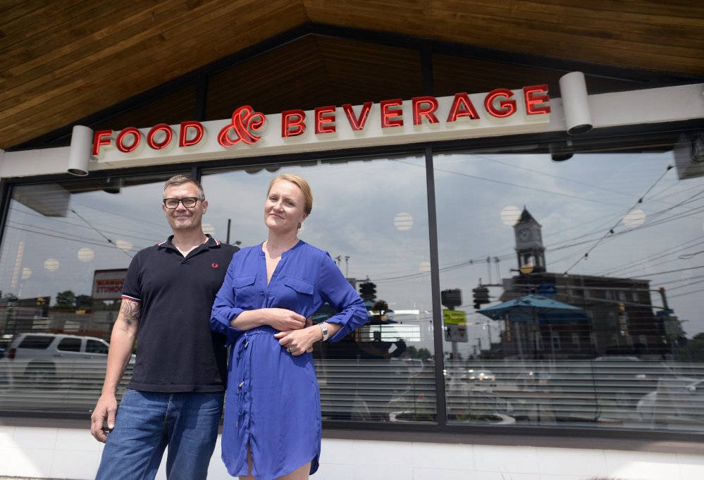 Birch Shambaugh and Fayth Preyer opened Woodford Food & Beverage on Forest Avenue at the intersection of four Portland neighborhoods.