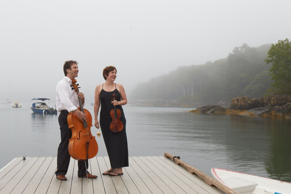 Cellist Ben Noyes and violinist Tracey Jasas-Hardel will join Ali Waks Adams, executive chef at the Brunswick Inn, at the Robinhood Free Meetinghouse in Georgetown on Sunday for a musical dinner.