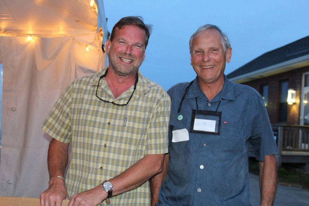 Sebastian Belle, executive director of Maine Aquaculture Association, and Robert Morse, founder of North American Kelp.