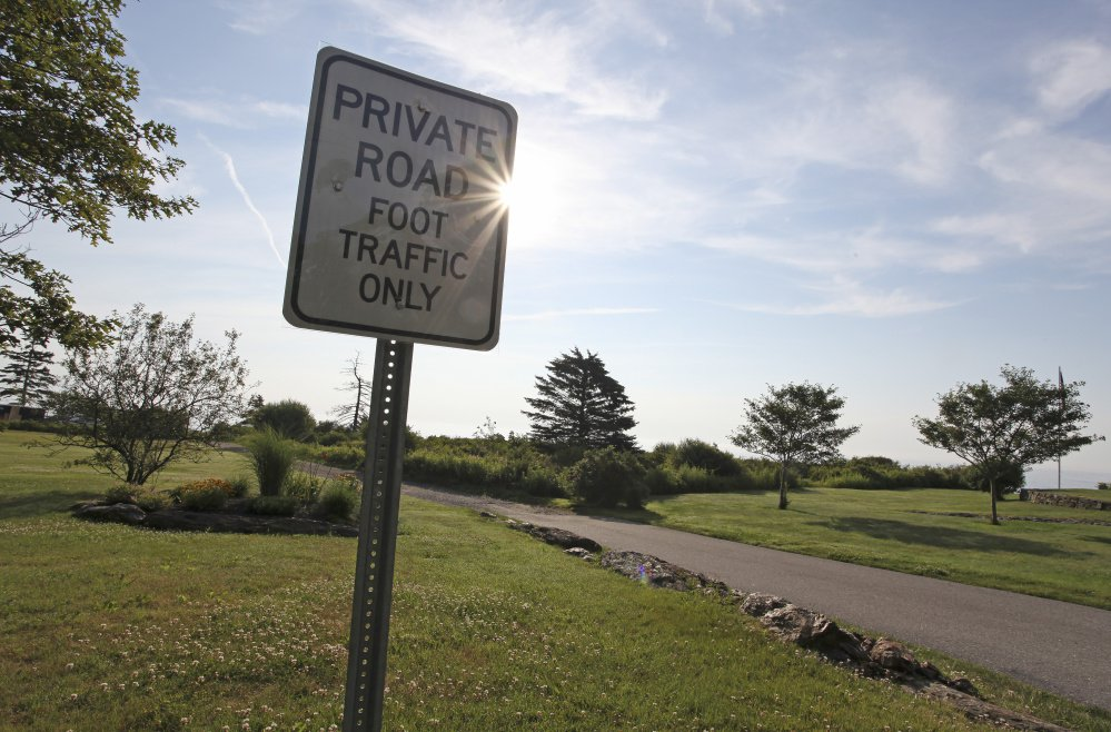 """Surfside Avenue is a """"paper street"""" – proposed roads that were shown in subdivision plans but were never built – and its future is the subject of debate in Cape Elizabeth."""