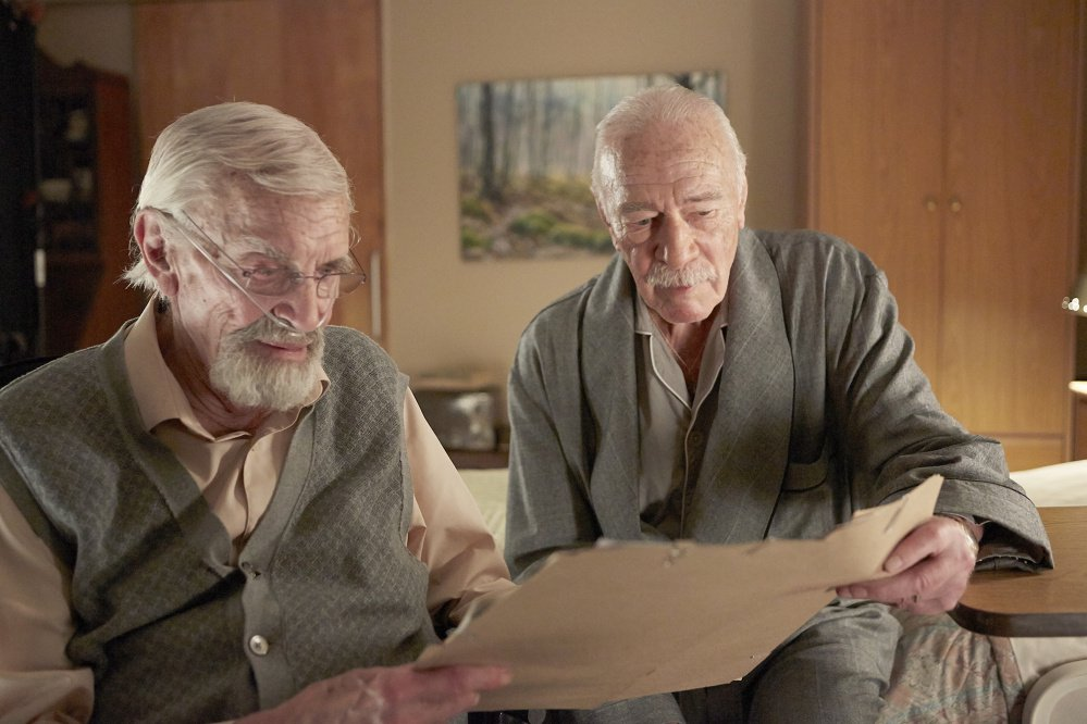 "Martin Landau, left, and Christopher Plummer star in the 2015 drama thriller ""Remember."""