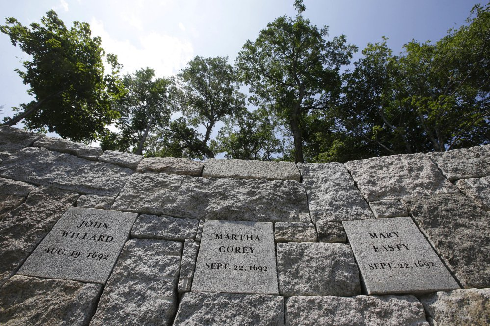 Five women who were hanged as witches on July 19, 1692 during the Salem witch trials were remembered in a ceremony at the site of their deaths Wednesday. It was the first of three mass executions at the site, known as Proctor's Ledge.
