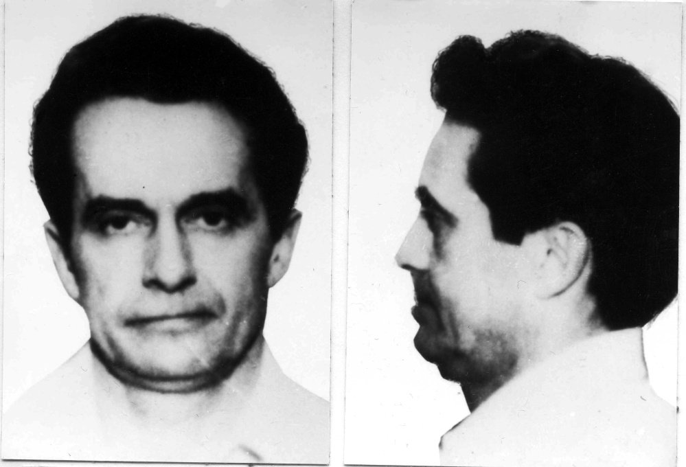 This 1981 booking photo combo provided by the FBI shows Donald Eugene Webb, wanted in connection with the Dec. 4, 1980 murder of Police Chief Gregory Adams during a traffic stop in Saxonburg, Pa. Webb's remains were found buried in the yard of a Dartmouth, Mass., house last week.