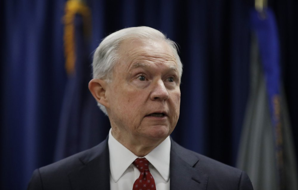 "President Trump took a new swipe at Attorney General Jeff Sessions Monday, referring to him in a tweet as ""beleaguered"" and wondering why Sessions isn't digging into Hillary Clinton's alleged contacts with Russia."