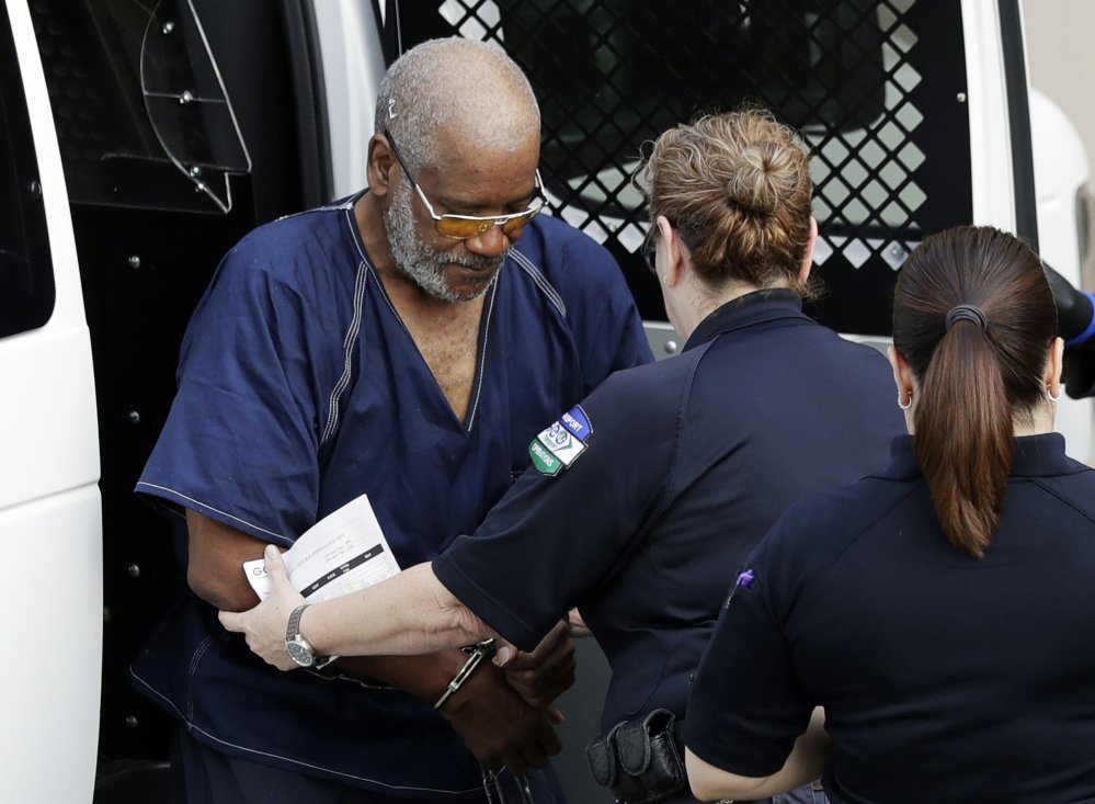 James Mathew Bradley Jr., arrives at the federal courthouse for a hearing Monday in San Antonio. Bradley was arrested in connection with the deaths of multiple people packed into a broiling tractor-trailer.