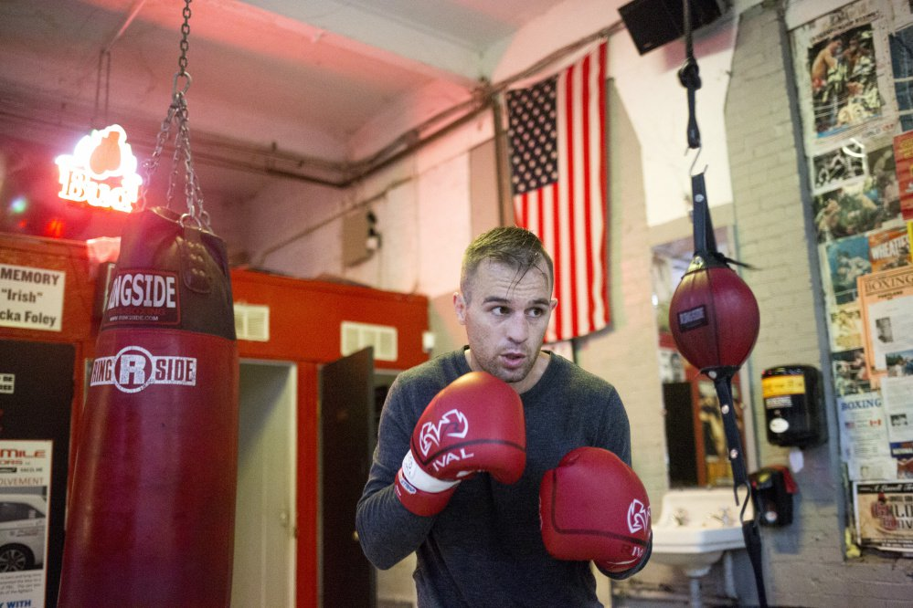PORTLAND, ME - JULY 27: Jason Quirk trains for a fight he has on Saturday at the Portland Boxing Club. Quirk has been training actor Patrick Dempsey in boxing since June. (Staff photo by Brianna Soukup/Staff Photographer)
