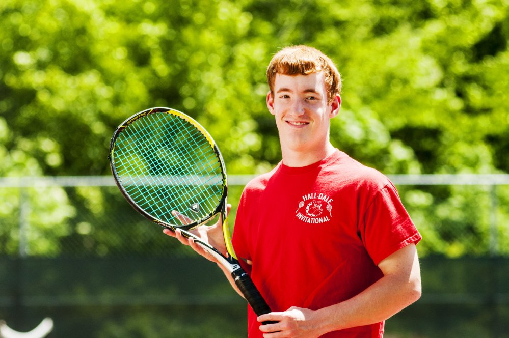 Hall-Dale's Malcolm Avore is the Kennebec Journal Boys Tennis Player of the Year.
