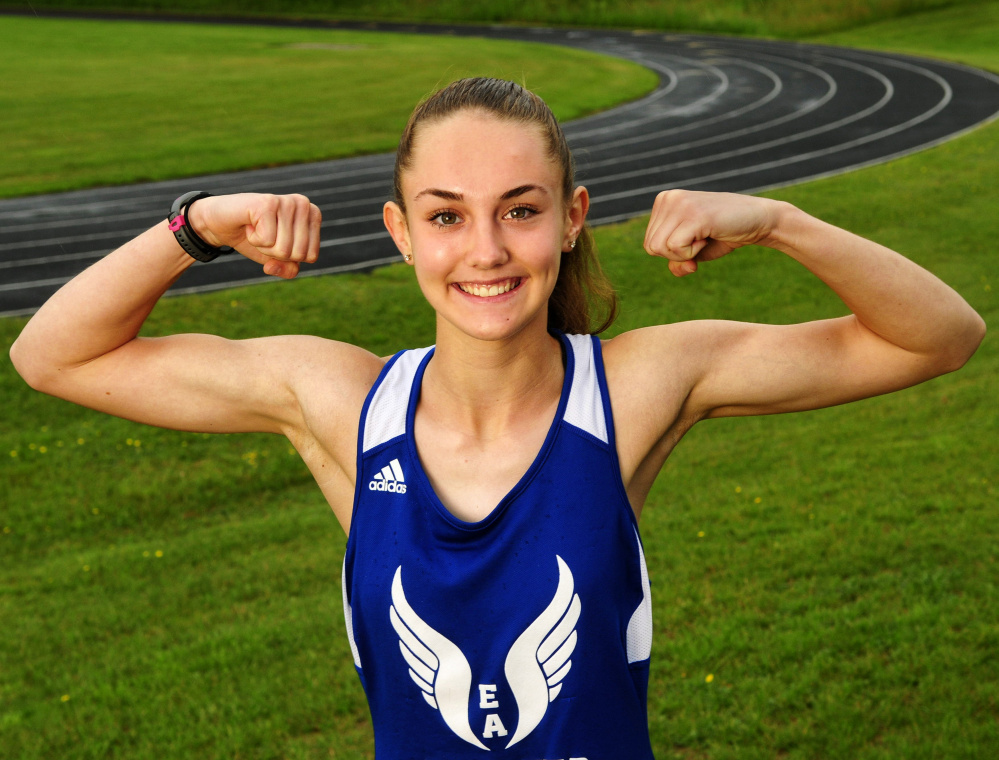 Erskine's Kaylee Porter is the Kennebec Journal Girls Track and Field Athlete of the Year.
