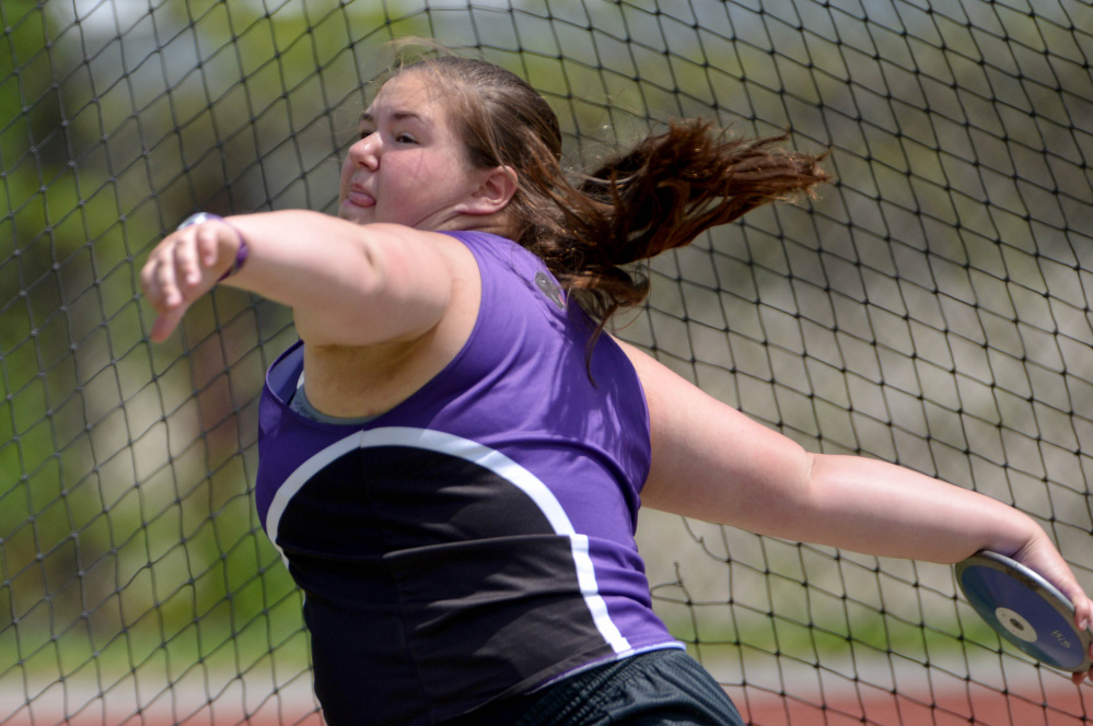 Waterville's Sarah Cox is the Morning Sentinel Girls Track and Field Athlete of the Year.