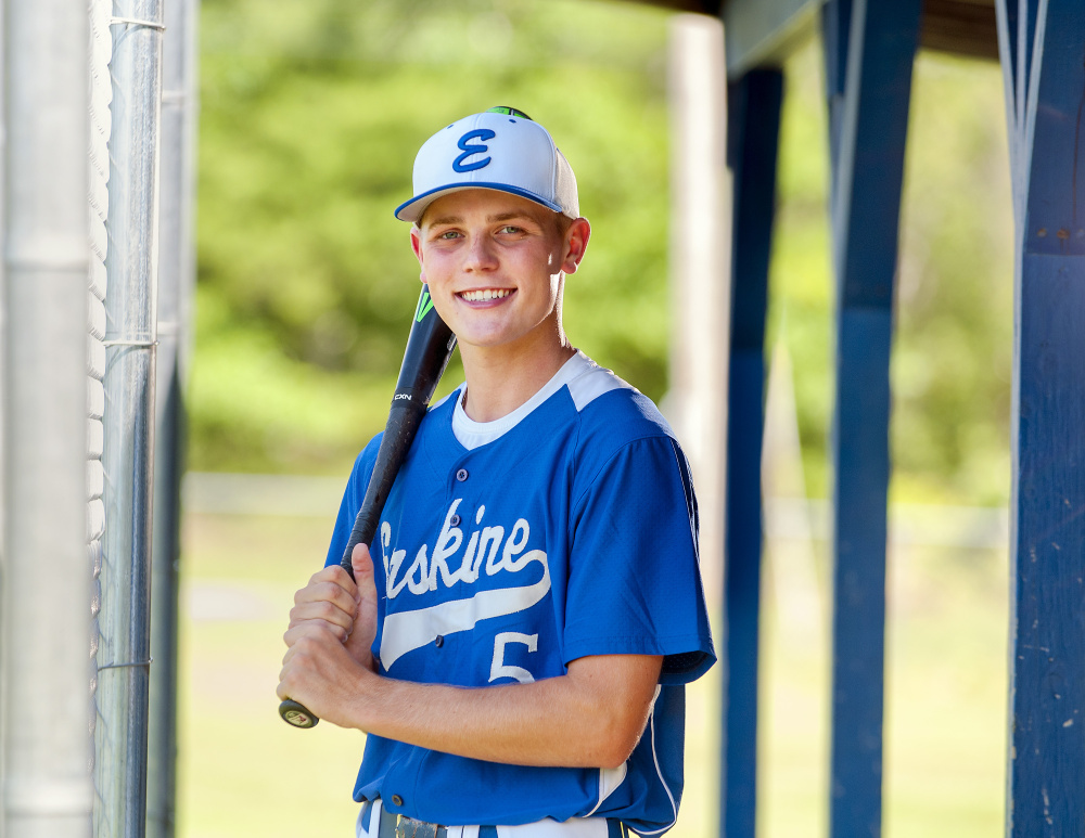 Erskine's Dylan Presby is the Kennebec Journal Baseball Player of the Year.