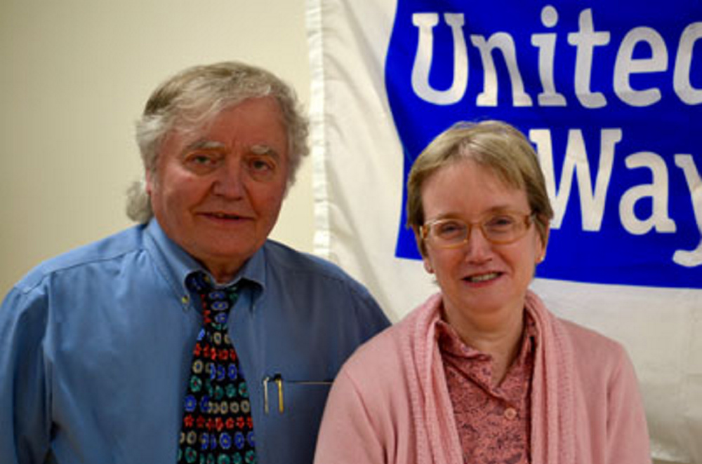 Rob Gordon and Wendy Beaudoin celebrate more than 30 years at United Way.