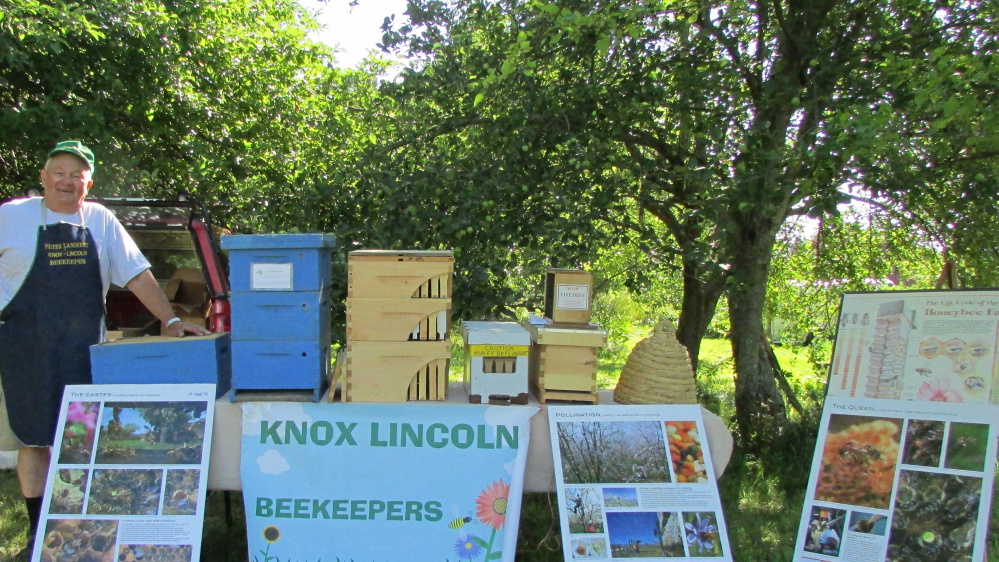 The beekeeping exhibit with Peter Lammert at a previous Open Farm Day event.