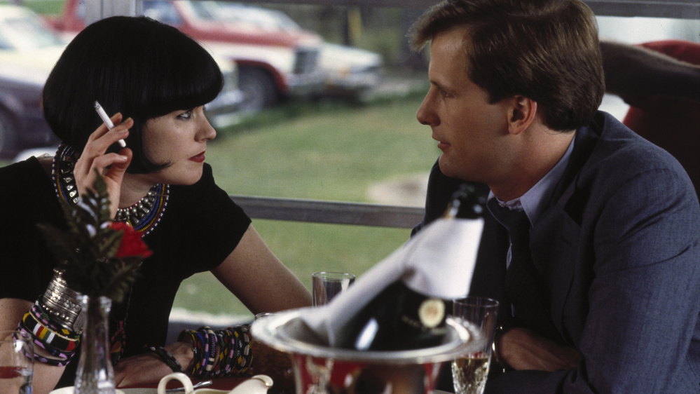 """Melanie Griffith, left, and Jeff Daniels in """"Something Wild."""" The film will be screened tonight at 6:30 p.m. at the Waterville Opera House."""