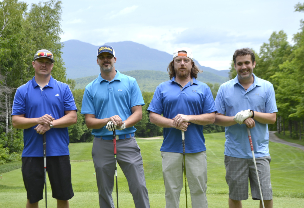 Pine Tree Cellular team placed first in the Franklin Community Health Network's annual Healthcare Golf Classic at Sugarloaf Golf Club. From left are Glen Pound, Tim Merwin, Trevor Olivadoti and Marc Girard.
