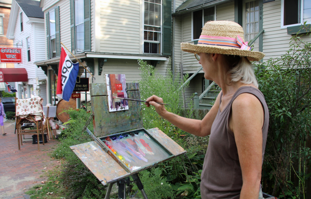 Artist Roberta Goschke will paint during the Wiscasset Art Walk from 5 to 8 p.m. Thursday, July 27. Her work will be exhibited at the Maine Art Gallery.