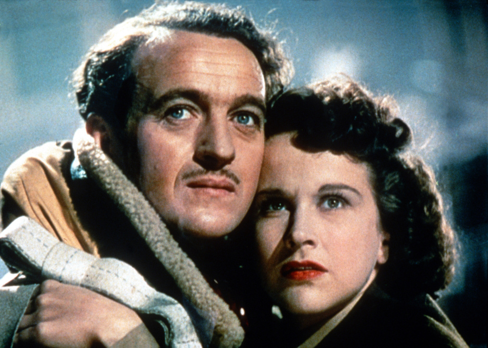 "David Niven and Kim Hunter in ""A Matter of Life and Death."""