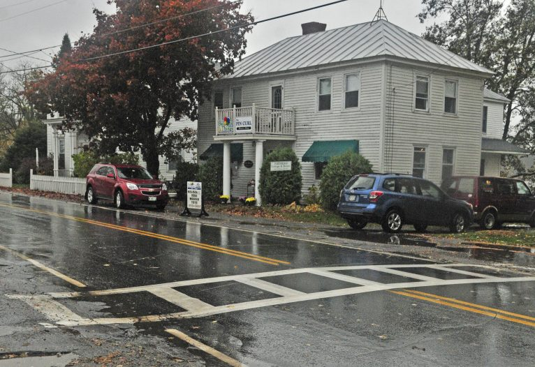 The Belgrade Board of Selectpersons on Tuesday discussed parking and traffic regulations on Main Street in Belgrade's village area, shown on October 28, 2016.