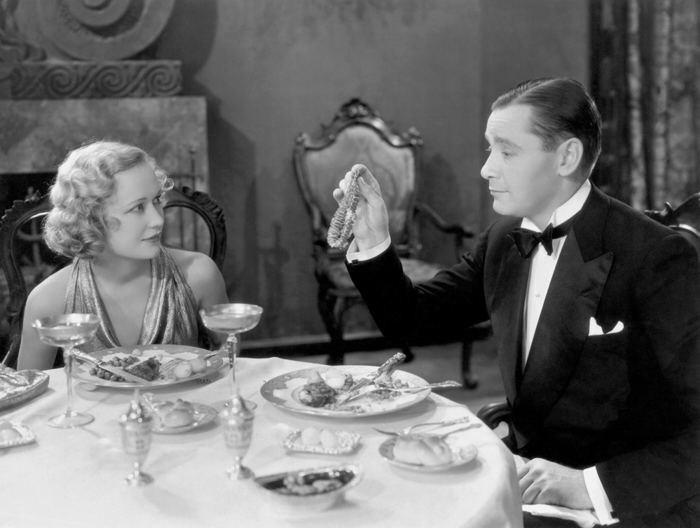 "Miriam Hopkins and Herbert Marshall in ""Trouble in Paradise."""