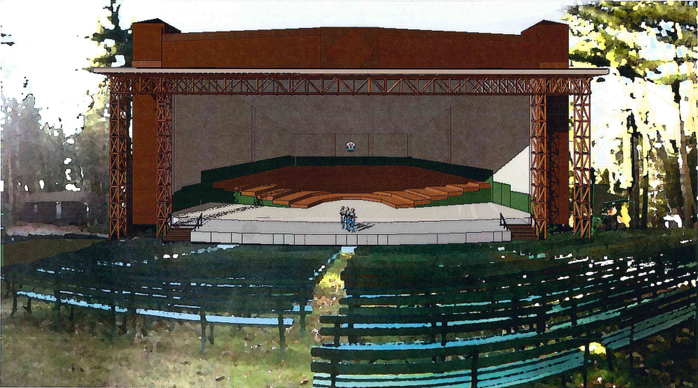 An artist's rendering of the planned ampitheater expansion at the Snow Pond Center for the Arts in Sidney.