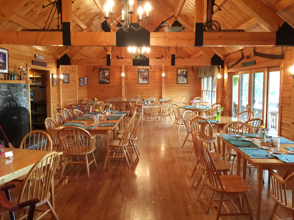Dining room at Attean Lake Lodge
