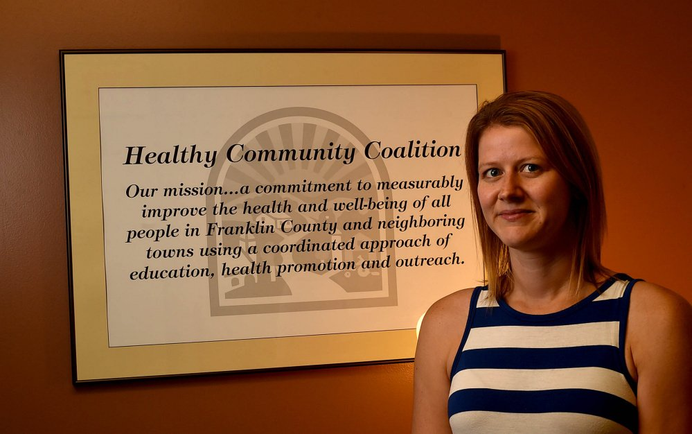 Andrea Richards, program coordinator at Healthy Community Coalition in Farmington, poses for a portrait Thursday.