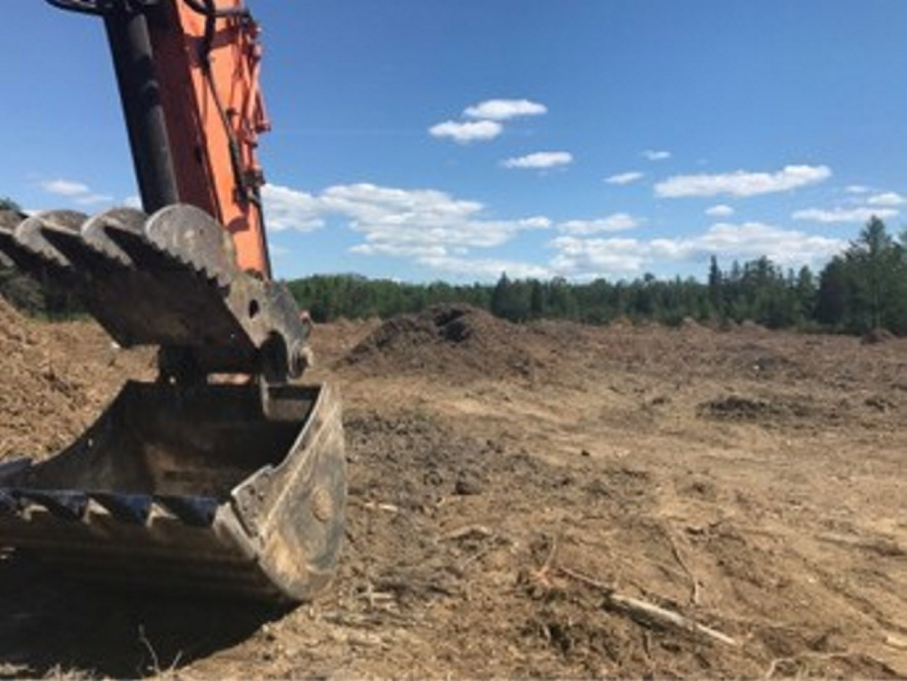 Construction of the Fiberight waste-to-energy plant is underway Wednesday off Coldbrook Road in Hampden.